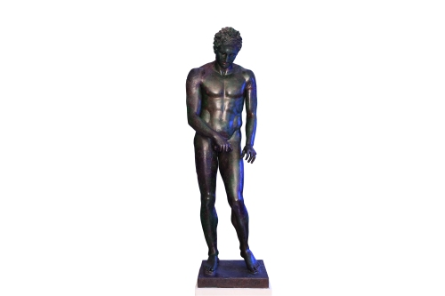 Bronze statue of an Apoxyomenos. Greek, about 300 BC. Ministry of Culture,Croatia. Image: Mali Losinj Tourist Board / photography by Mr Marko Vrdoljak