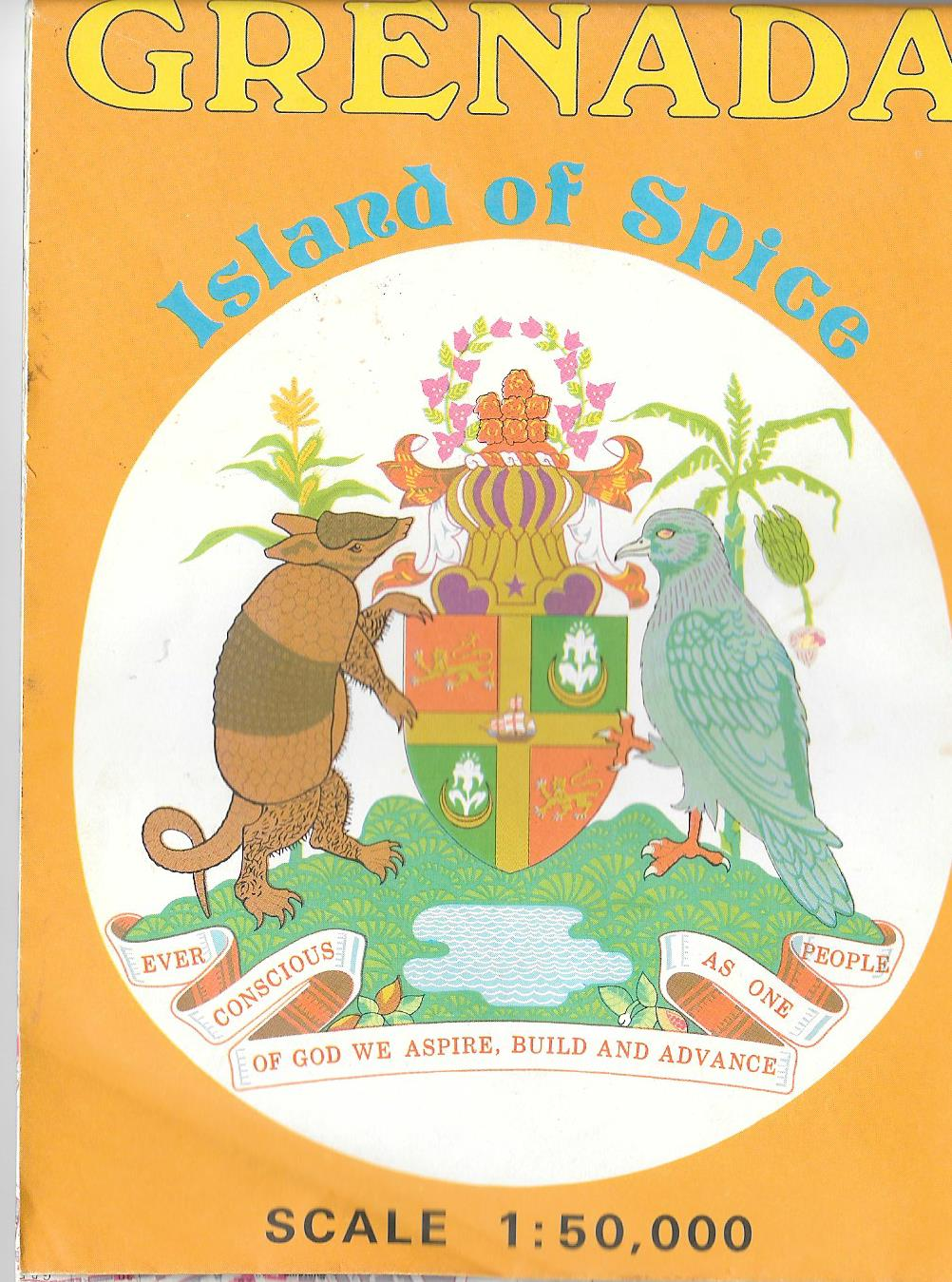 Grenada tourist map from 1983 libertybelle diaries